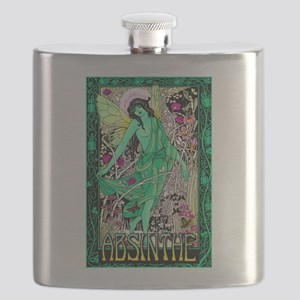 Absinthe Green Fairy Flask